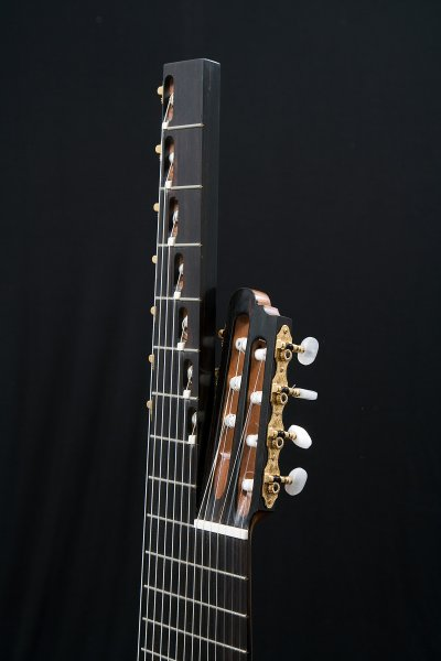 14-string guitar head and Ebony fingerboard, Schaller tuners.JPG