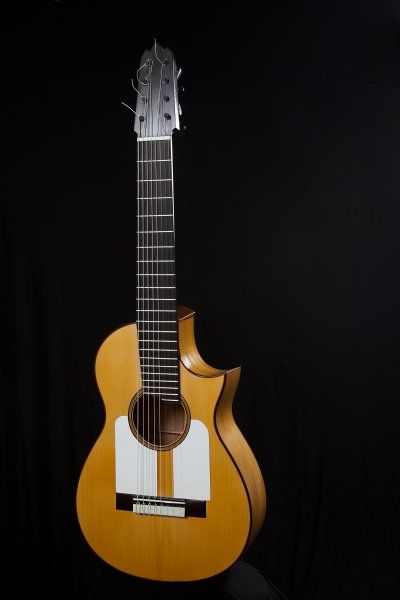 8 string Flamenco Blanca guitar, scale lenght 628 mm., made in Italy Flamenco guitar.jpg