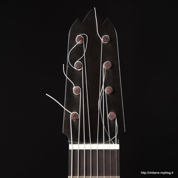 Ebony guitar headstock with friction pegs, bone nut, strings spacing at nut from 1st to 7th 54,5 mm.jpg