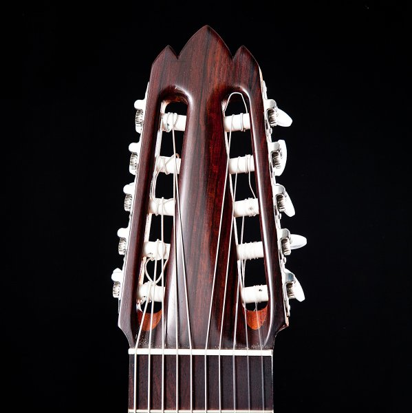 Guitar headstock made with Cocobolo, bone nut.