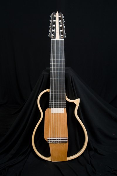 Travel guitar, Decacorde Silent guitar, scale lenght 640 mm., Ebony fingerboard.JPG